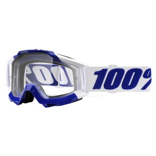 100 Percent Accuri Motocross Goggles - Calgary ~ Clear Lens
