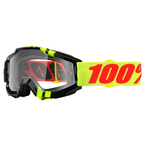 100 Percent Accuri Motocross Goggles - Zerbo ~ Clear Lens