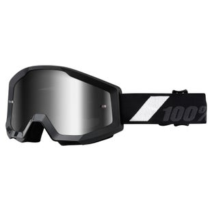 100 Percent Strata YOUTH Motocross Goggles - Goliath ~ Mirror Silver Lens