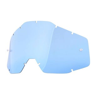 100 Percent Replacement Lens Accuri/racecraft/strata Motocross Goggle Lense - Blue Anti-fog W/posts