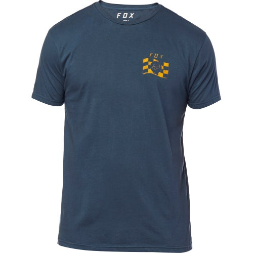 Fox Racing Podium Premium T-Shirt Korte Mouwen - Navy