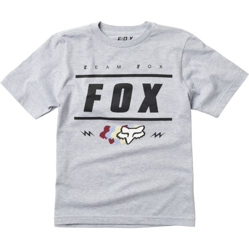 Fox Racing Youth Team 74 Short Sleeve T-Shirt - Light Heather Grey
