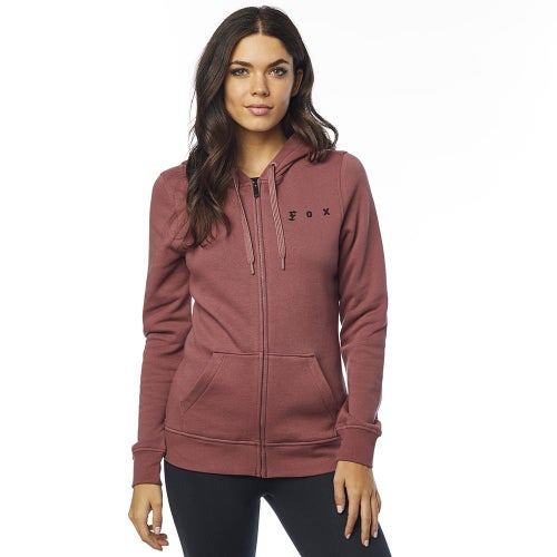 Fox Racing SuperZip Fleece Dames Hoody met Rits - Rose