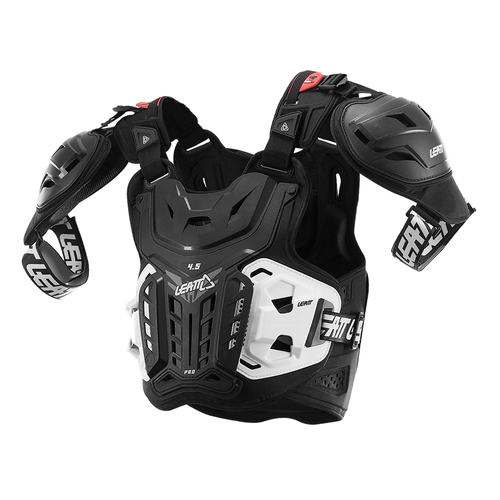 Leatt 4.5 PRO MX Motocross and Enduro Body Protection - Black Red