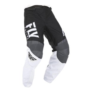 Fly F-16 Pants Youth MX Kalhoty - Black White Grey