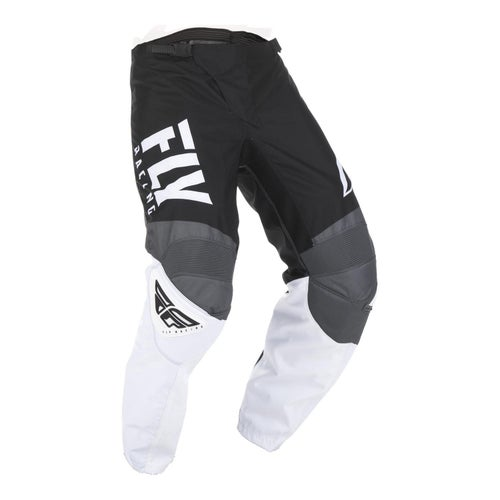 Fly F-16 Pants Youth Motocross Pants - Black White Grey
