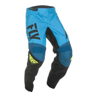 Fly F-16 Pants Youth MX Kalhoty - Blue Black hi-vis