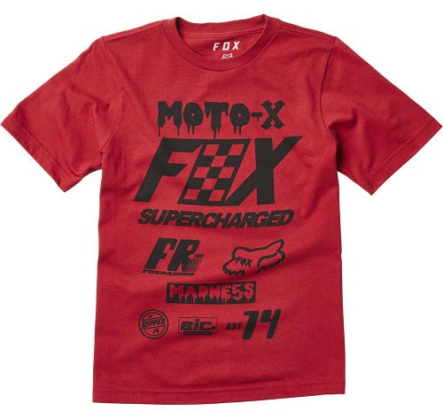 Fox Racing YOUTH Czar Short Sleeve T-Shirt - Red