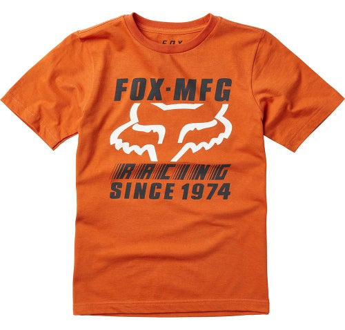 Fox Racing YOUTH Zoomin Short Sleeve T-Shirt - Orange