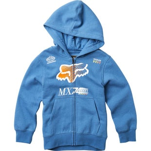 Fox Racing YOUTH Backdrafter Boys Zip Hoody - Blue