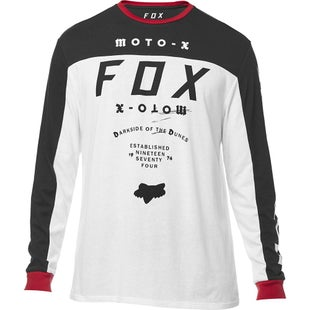 Fox Racing Fctry Ls Airline Long Sleeve T-Shirt - Opt Wht