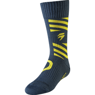 Shift Whit3 Label YOUTH Enduro and MX Boot Socks - Navy Yellow