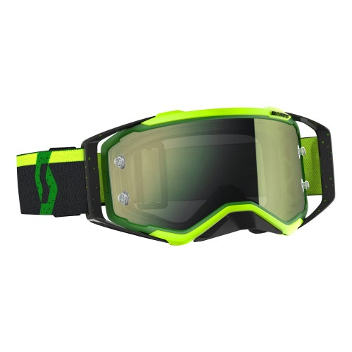 Scott Sports Prospect Motocross Goggles - Black Green Flou Yellow Chrome