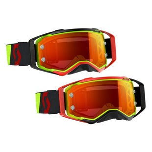 Scott Sports Prospect Motocross Goggles - Red Yellow Flou Orange Chrome