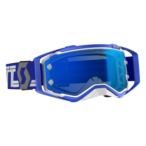 Scott Sports Prospect Motocross Goggles - White Blue Blue Chrome