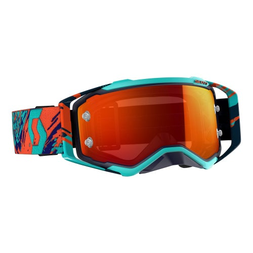 Scott Sports Prospect Motocross Goggles - Blue Orange Yellow Chrome