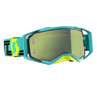 Scott Sports Prospect Motocross Goggles - Blue Teal Yellow Chrome