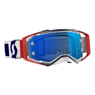 Scott Sports Prospect Motocross Goggles - Red White Electric Blue Chrome