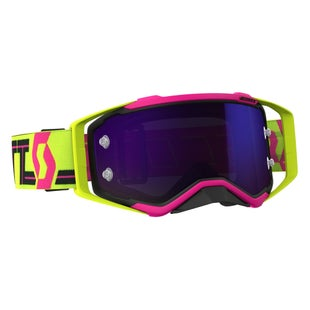 Scott Sports Prospect Motocross Goggles - Pink Yellow Blue Chrome