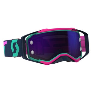 Scott Sports Prospect Motocross Goggles - Teal Pink Blue Chrome