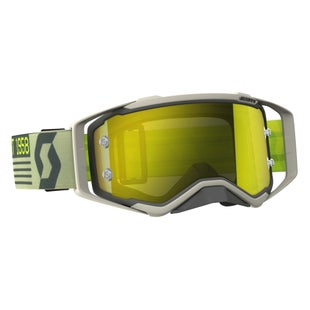 Scott Sports Prospect Motocross Goggles - Grey Beige Yellow Chrome