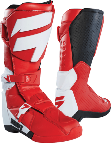 Shift Whit3 Label Motocross Boots - Red