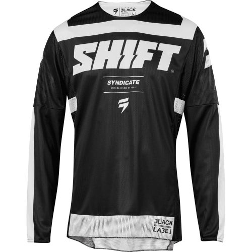 Shift 3Lack label Strike Enduro Motocross Jerseys - Black