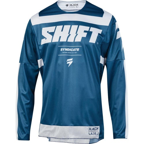 Shift 3Lack label Strike Enduro Motocross Jerseys - Blue