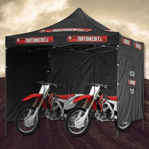 Dirtbikebitz Pop Up 3x3m Shelter Tent - Black