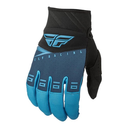 Fly F-16 Gloves Motocross Gloves - Blue Black Hi-vis