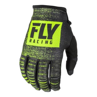 Fly Kinetic Noiz Gloves Motocross Gloves - Black hi-vis