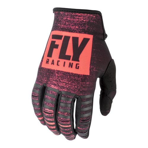 Fly Kinetic Noiz Gloves Motocross Gloves - Neon Orange Black