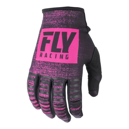 Fly Kinetic Noiz Gloves Motocross Gloves - Neon Pink Black