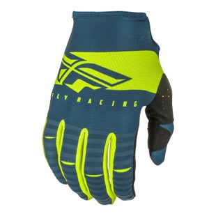Fly Kinetic Shield Gloves Motocross Gloves - Navy hi-vis