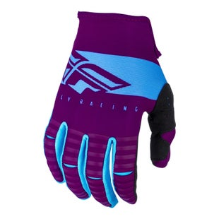 Fly Kinetic Shield Gloves Motocross Gloves - Port Blue