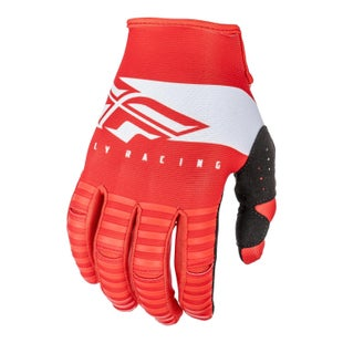 Fly Kinetic Shield Gloves Motocross Gloves - Red White