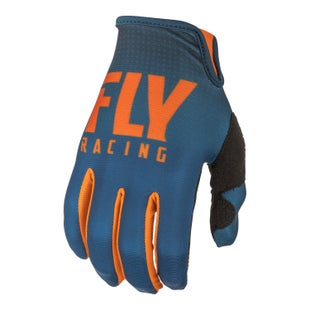 Fly Lite Hydrogen Gloves Motocross Gloves - Orange Navy