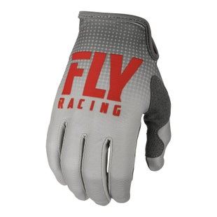 Fly Lite Hydrogen Gloves Motocross Gloves - Red Grey