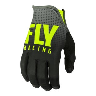Fly Lite Hydrogen Gloves MX Glove - Black hi-vis