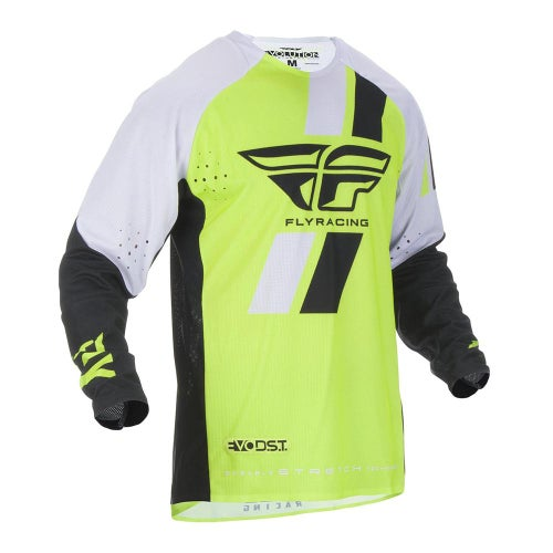 Fly Evolution Dst Jersey MX-Jersey - Hi-vis Black White