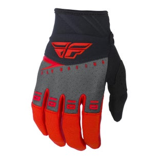 Fly F-16 Gloves Youth Motocross Gloves - Red Black Grey
