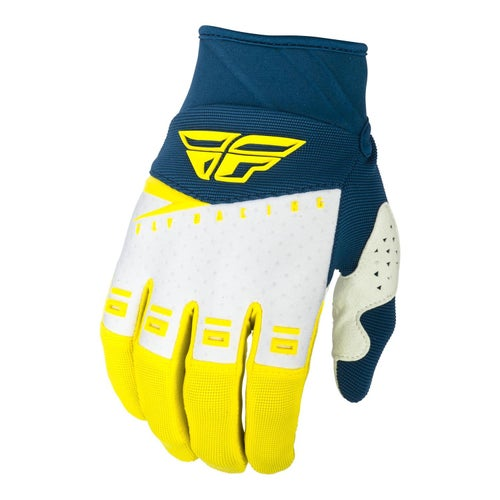 Fly F-16 Gloves Youth Motocross Gloves - Yellow White Navy