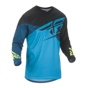 Fly F-16 Youth Jersey Motocross Jerseys - Blue Black hi-vis