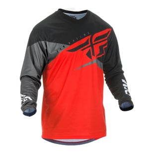 Fly F-16 Youth Jersey Motocross Jerseys - Red Black Grey