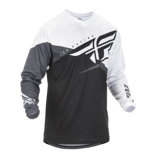 Fly F-16 Jersey Motocross Jerseys - Black White Grey