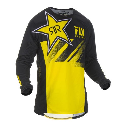 Fly Kinetic Rockstar Jersey Motocross Jerseys - Yellow Black