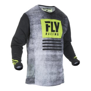 Fly Kinetic Noiz Jersey Motocross Jerseys - Black hi-vis