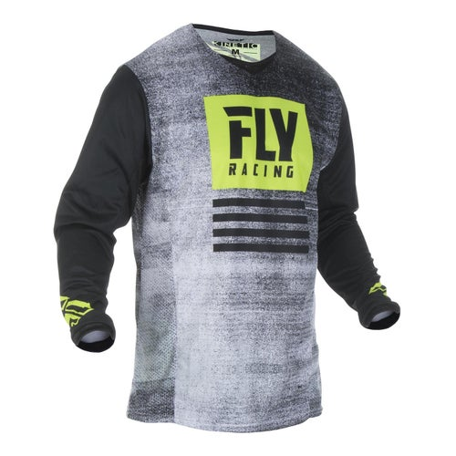 Fly Kinetic Noiz Jersey MX-Jersey - Black hi-vis