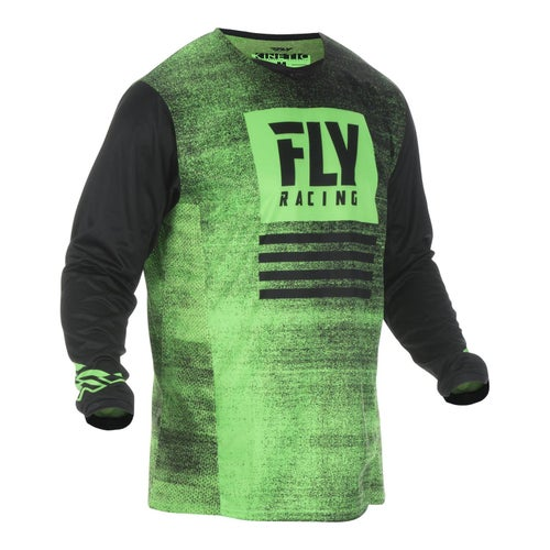 Fly Kinetic Noiz Jersey Motocross Jerseys - Neon Green Black