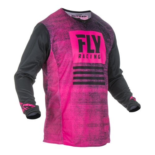Fly Kinetic Noiz Jersey Motocross Jerseys - Neon Pink Black